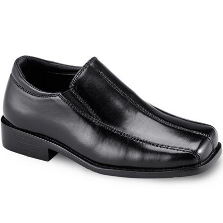 Stacy Adams Boys Nate Slip-On Shoe, 3 Medium, Black