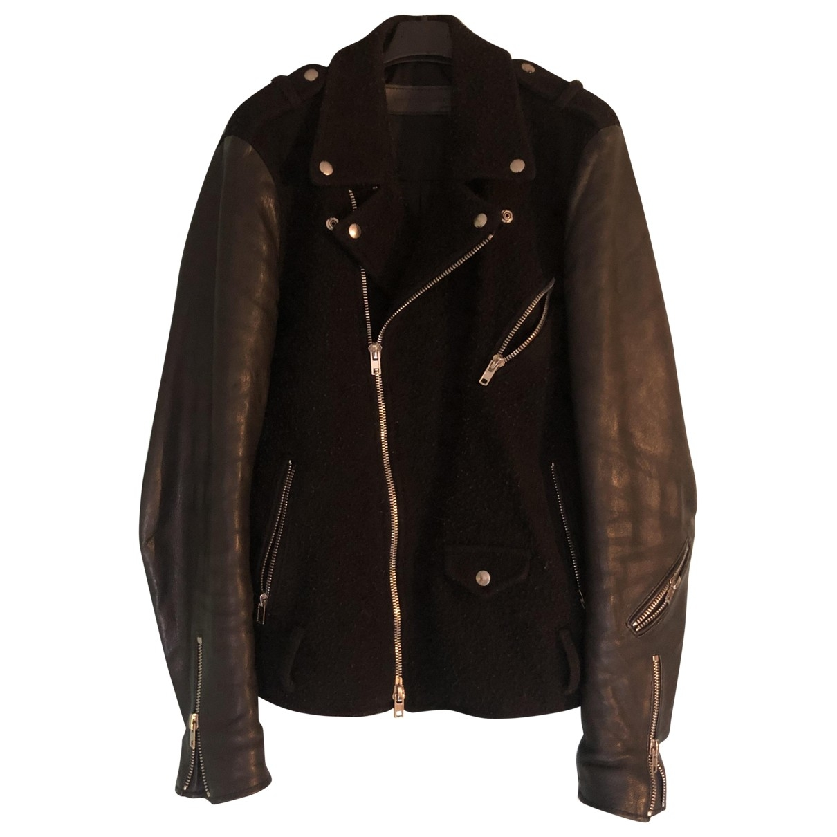 Non Signé / Unsigned \N Black Leather jacket  for Men M International