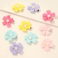 10pcs Toddler Girls Floral Hair Clip