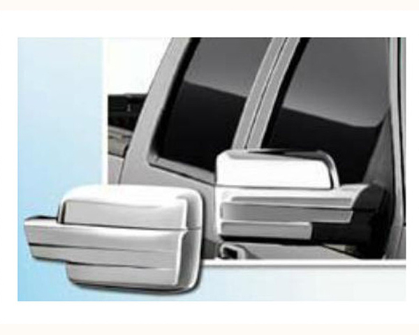 Quality Automotive Accessories Chrome Plated ABS Plastic 2-Piece Mirror Cover Set Ford F-150 2013