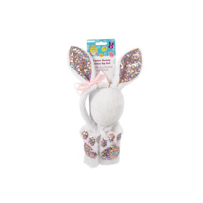 Easter Plush Bunny Dress-Up Set with Sequin
