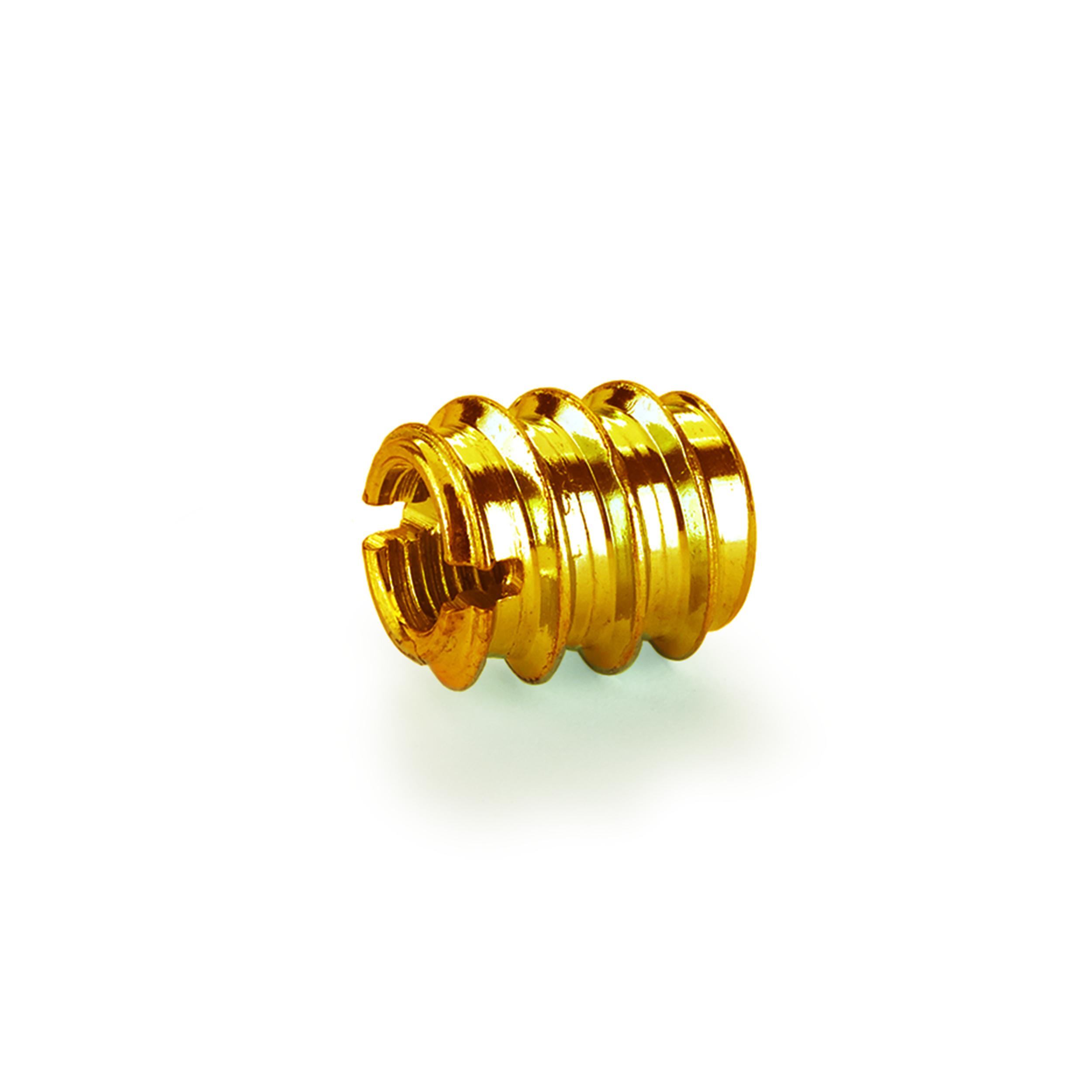 Threaded Insert - Brass - 10-24 8-piece