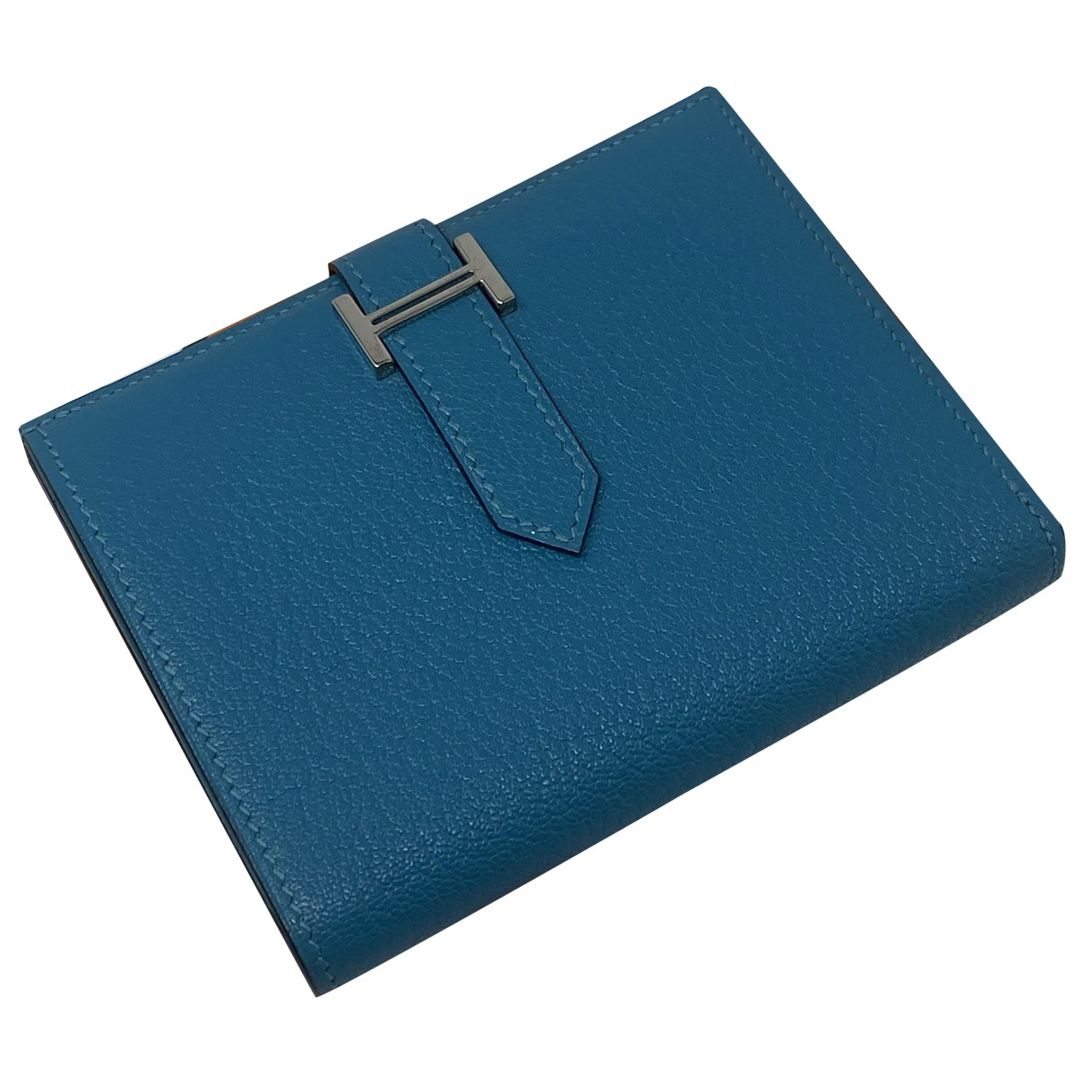 Hermès Béarn Turquoise Leather wallet for Women \N