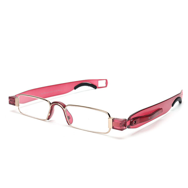 Men Women Portable Light 360 Rotation Foldable Reading Glasses Colorful Presbyopic Glasses