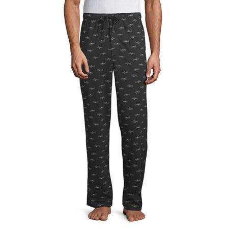 Stafford Mens Knit Pajama Pants, Medium , Black