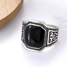 Men Geometric Decor Ring