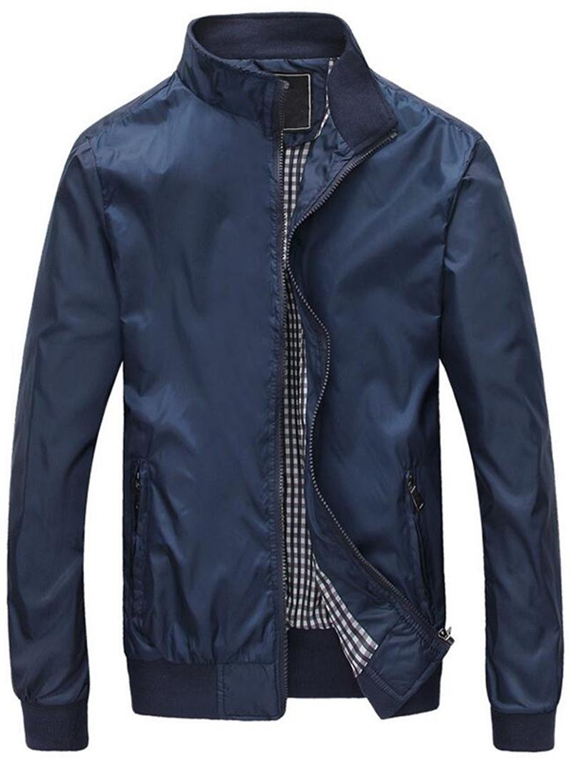 Ericdress Zip Vogue Stand Collar Men's Jacket