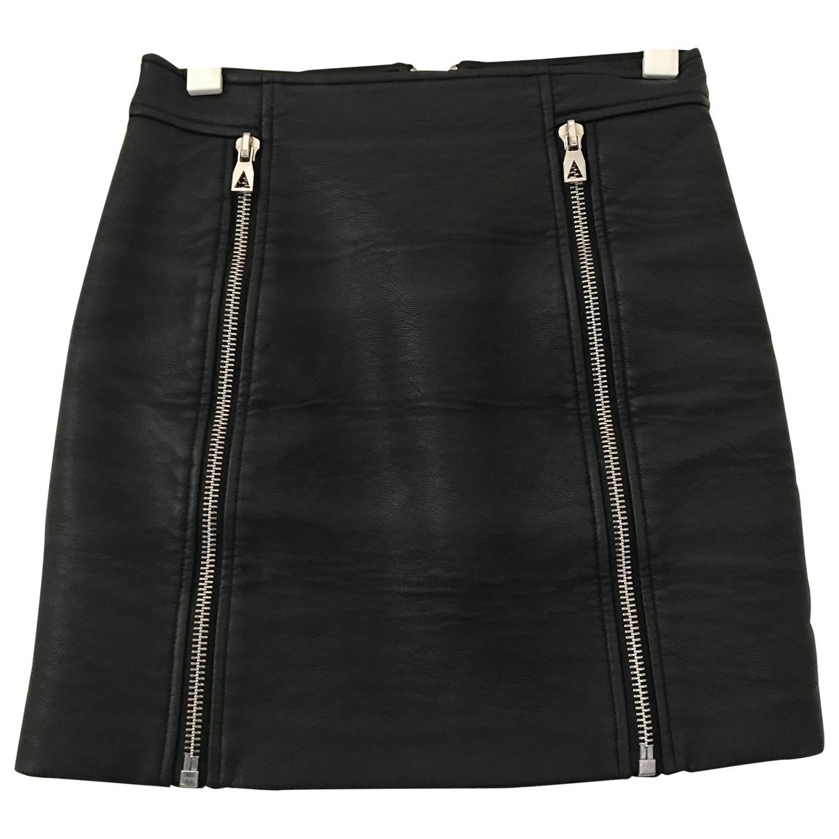 Eleven Paris \N Black Leather skirt for Women M International