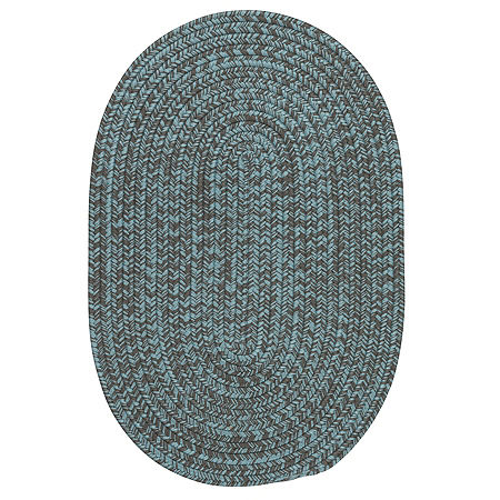Colonial Mills Anchor Isle Braided Oval Reversible Indoor/Outdoor Rugs, One Size , Gray