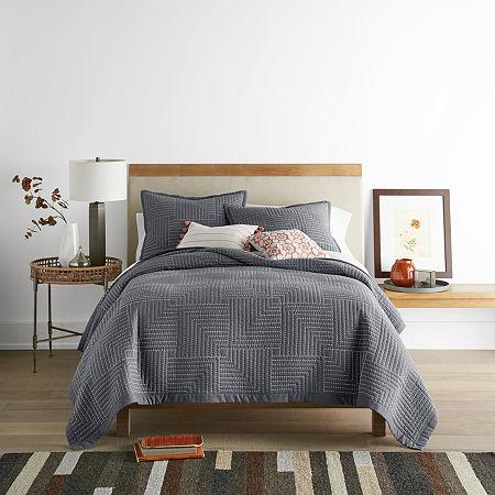 JCPenney Home Zen Garden Quilt, One Size , Gray