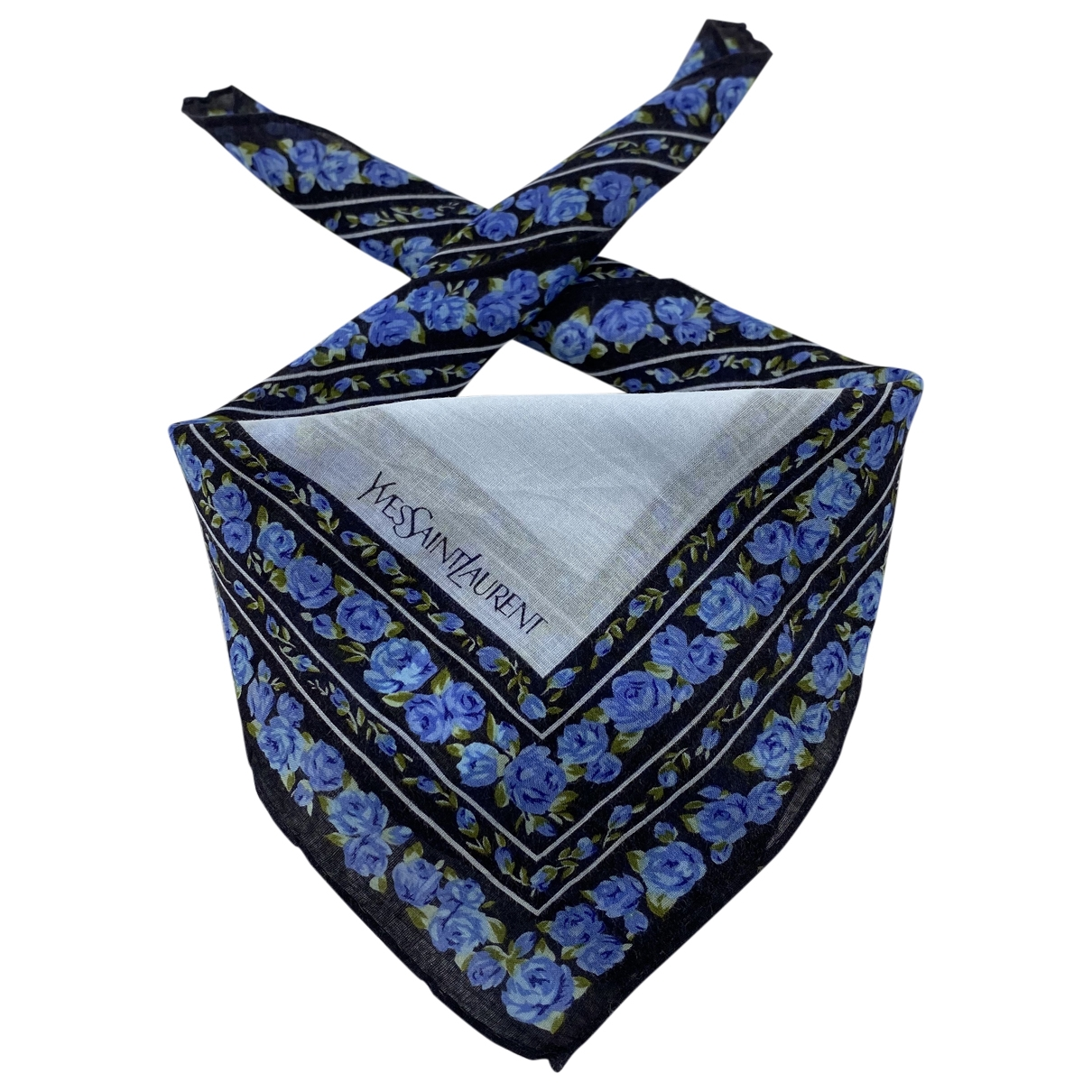 Yves Saint Laurent \N Blue Cotton scarf for Women \N