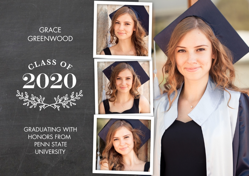 2020 Graduation Announcements 5x7 Cards, Premium Cardstock 120lb with Rounded Corners, Card & Stationery -Grad 2020 Branches by Tumbalina
