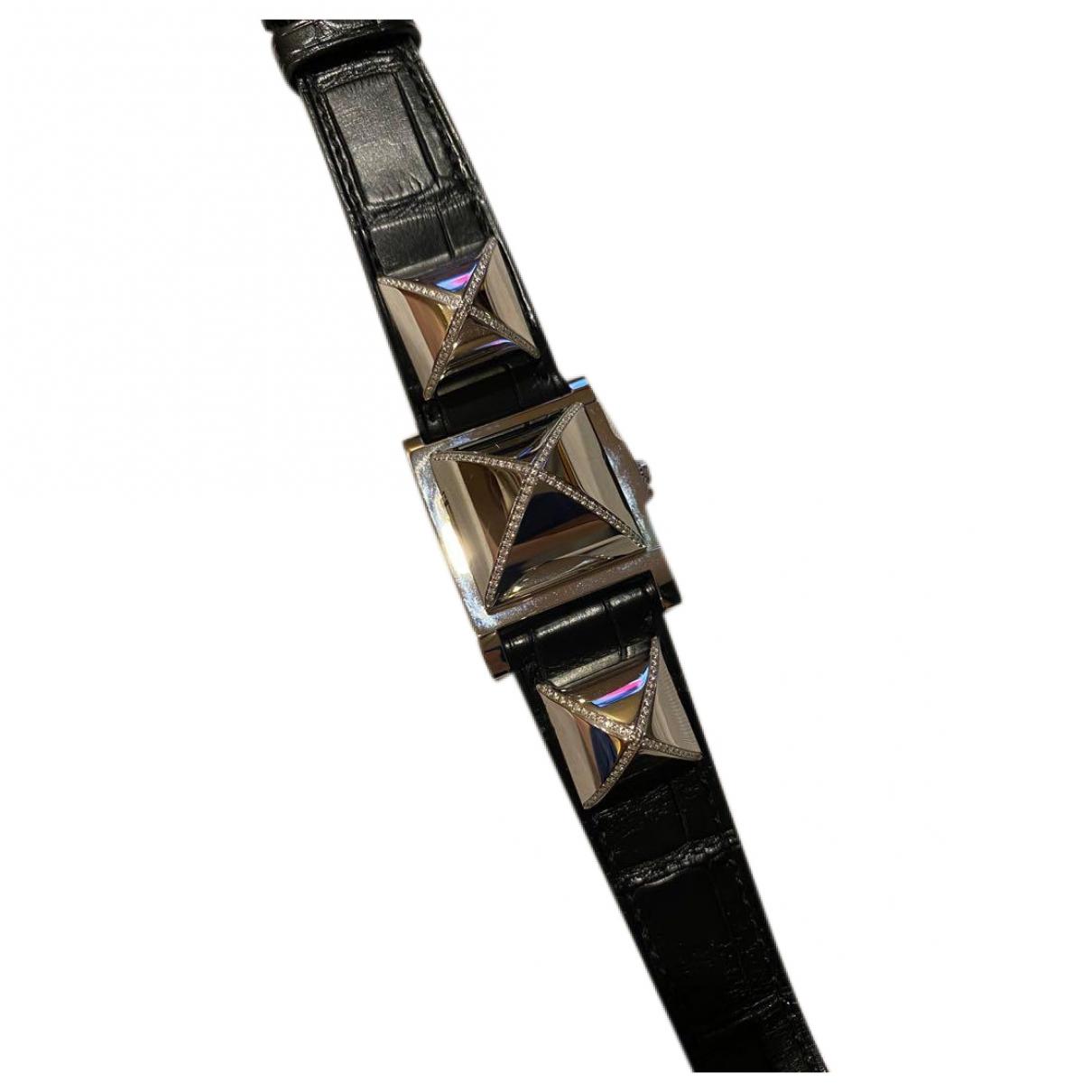 Hermès Médor Black Steel watch for Women \N