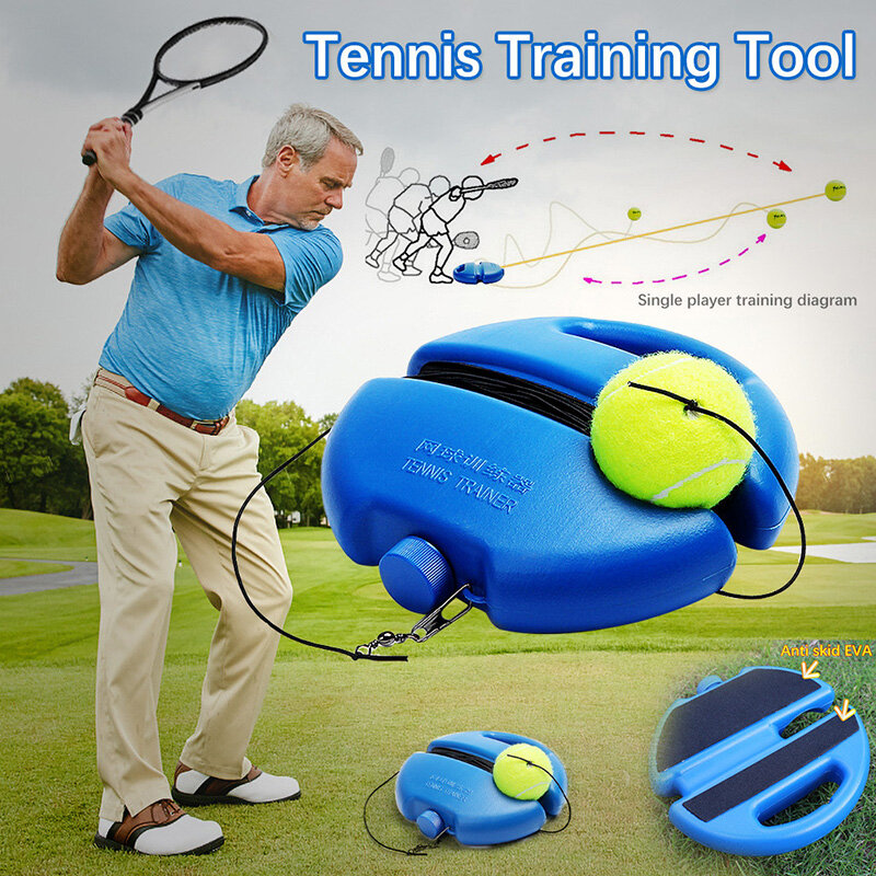Tennis Trainer Self-study Tennis Training Tool Rebound Ball Baseboard Sparring Device