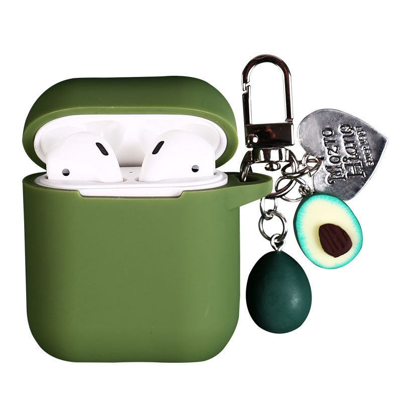Avocado AirPods Cover Keychain with Cute Wireless Headphone Cover Pendant