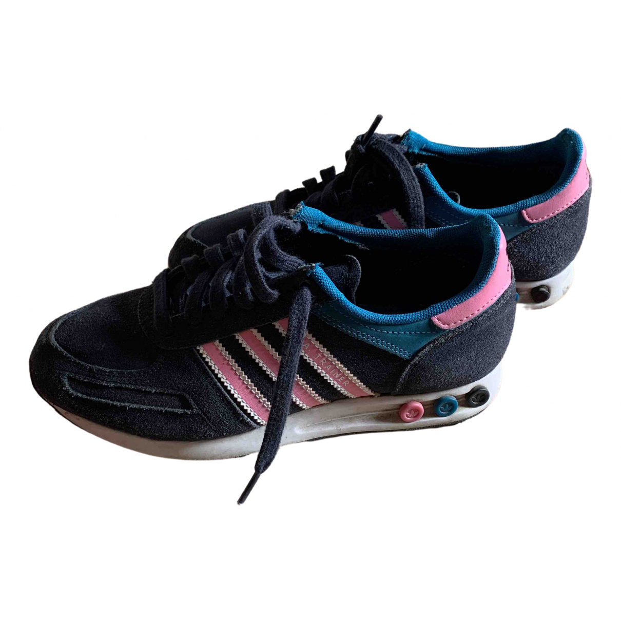 Adidas \N Blue Suede Trainers for Women 6.5 US