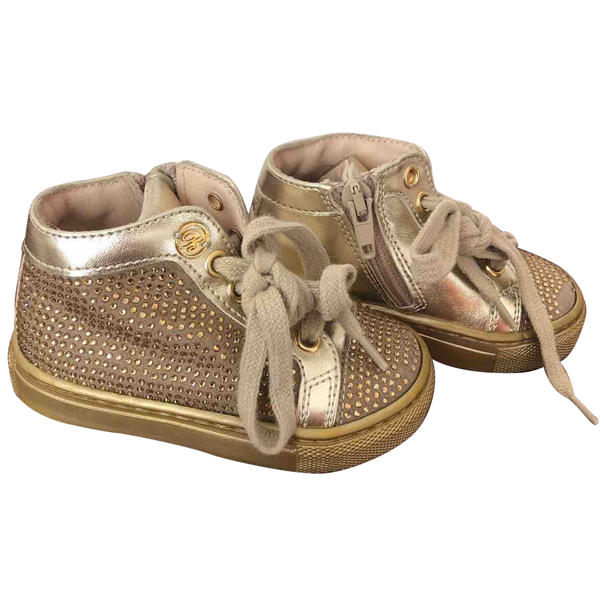 Blumarine \N Gold Leather First shoes for Kids 20 EU