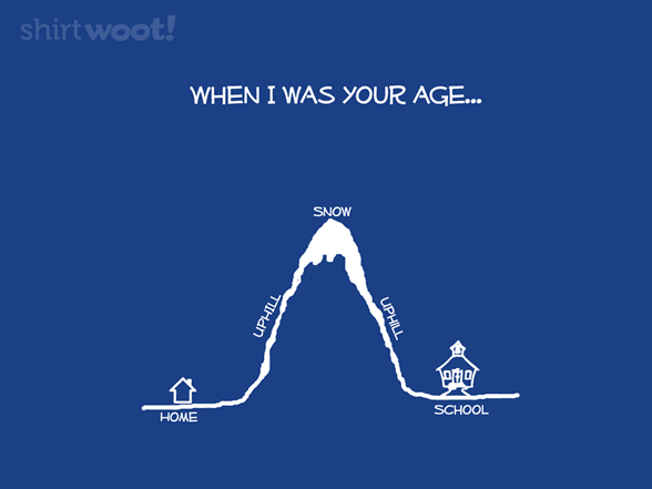When I Was Your Age T Shirt