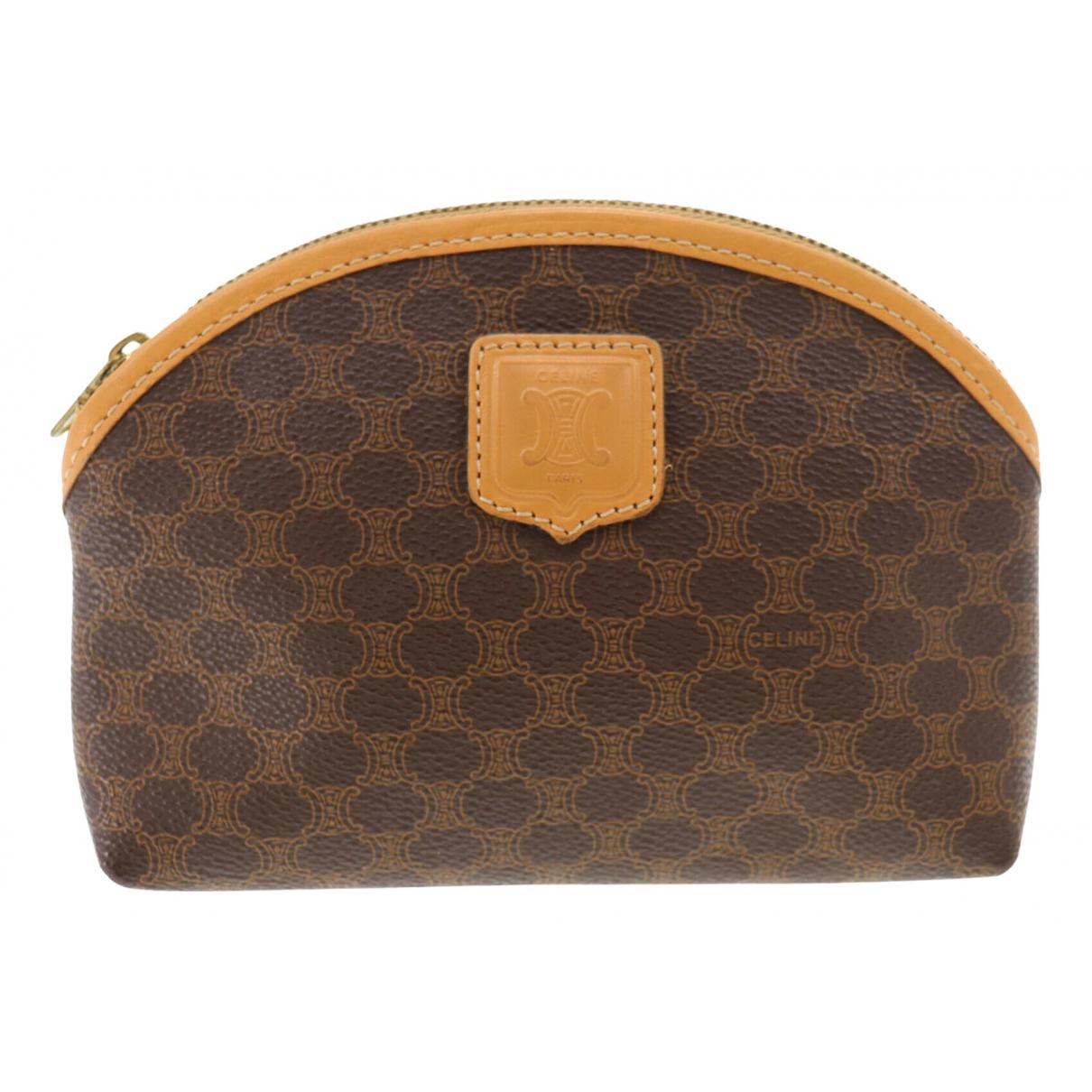 Celine \N Brown Cloth Purses, wallet & cases for Women \N