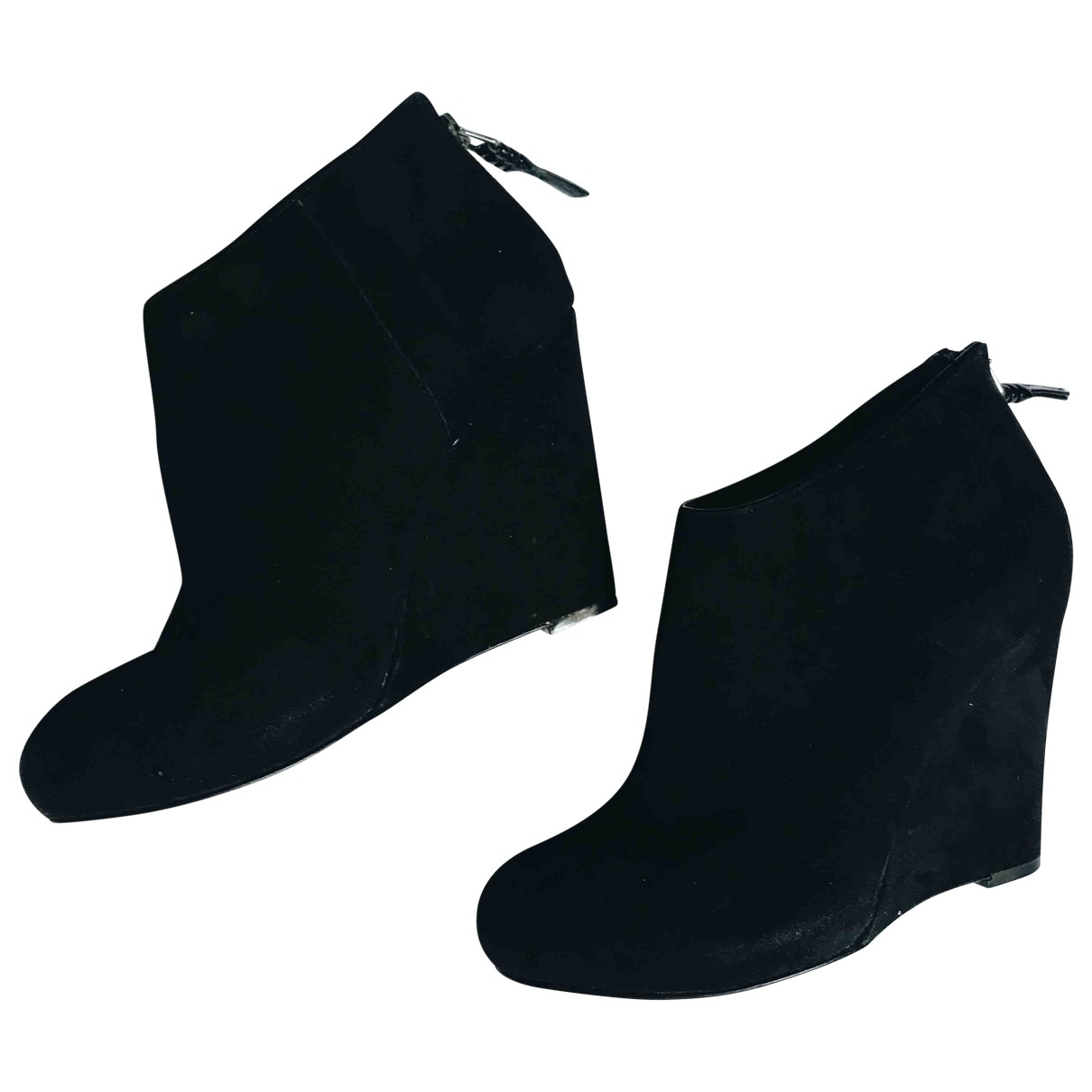 Dkny \N Black Suede Heels for Women 36 EU