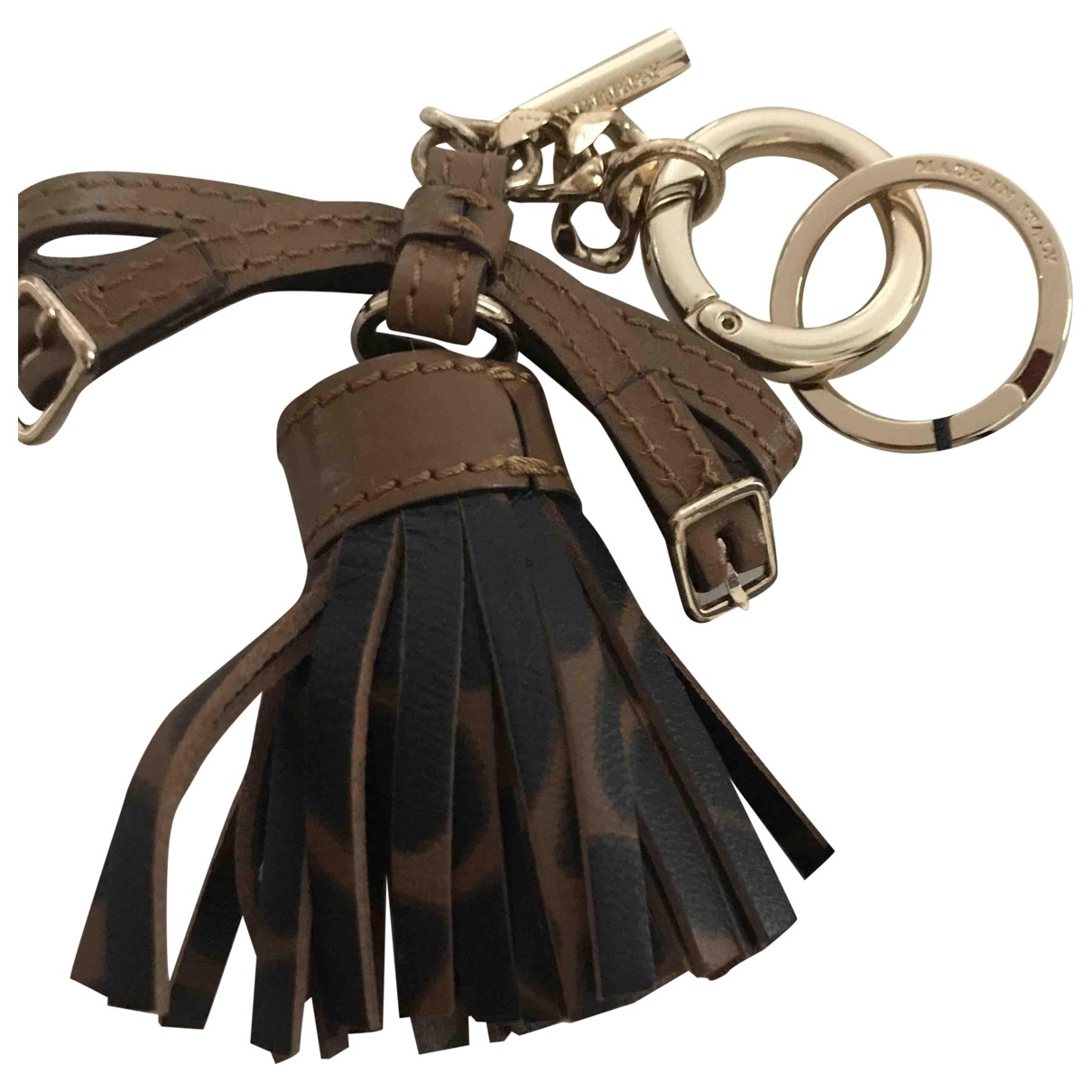 Burberry \N Leather Bag charms for Women \N