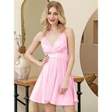 HouseOfChic Crisscross Satin Cami Dress