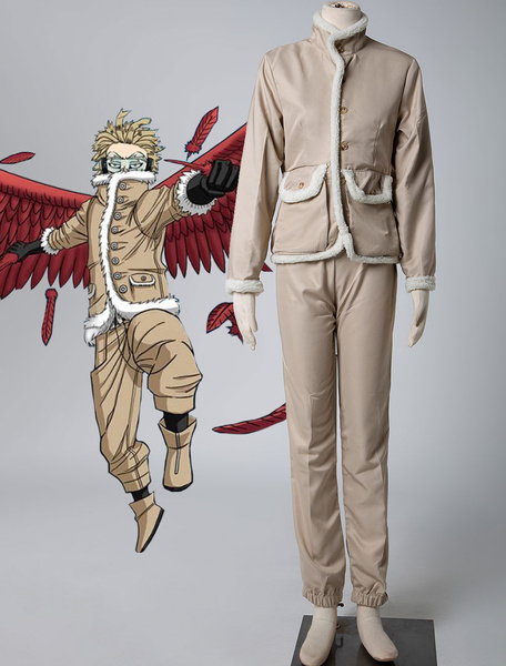Milanoo Boku No Hero Academia Cosplay Costume Light Brown Poly Cotton Blend Polyester Pants Overcoat Cosplay Costumes