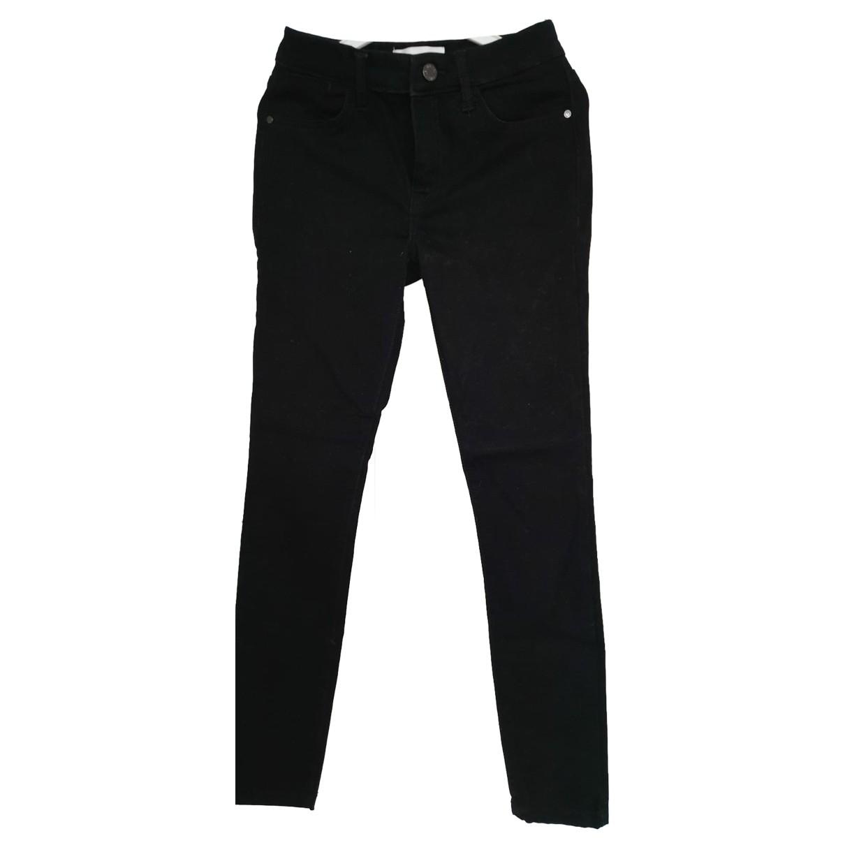 Mango \N Black Cotton - elasthane Jeans for Women 34 FR