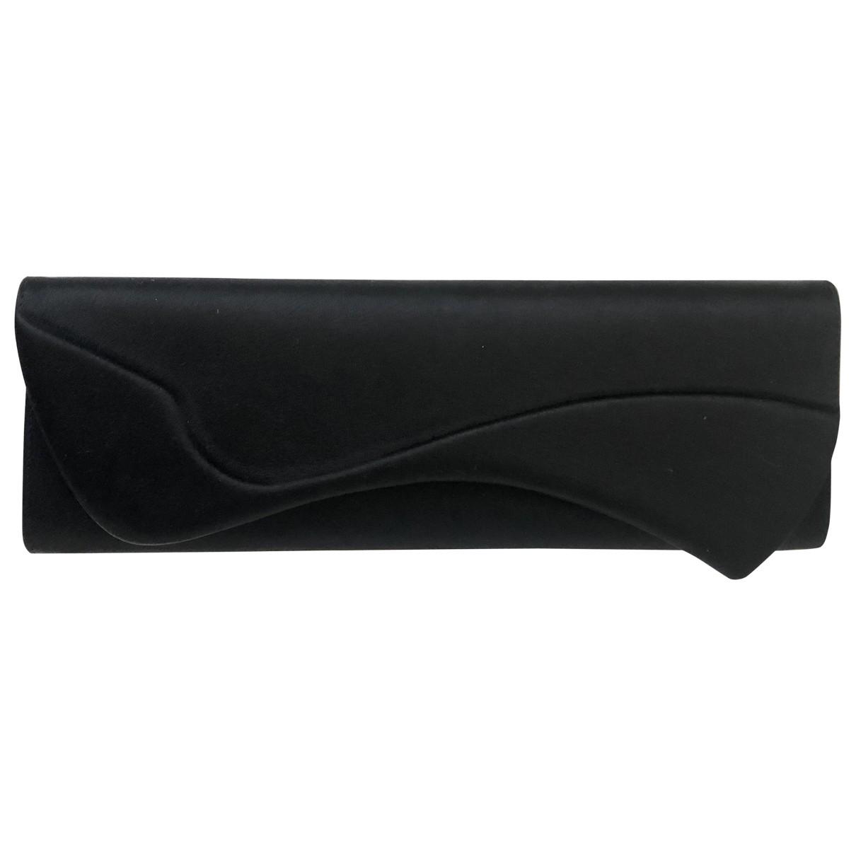 Christian Louboutin \N Black Silk Clutch bag for Women \N