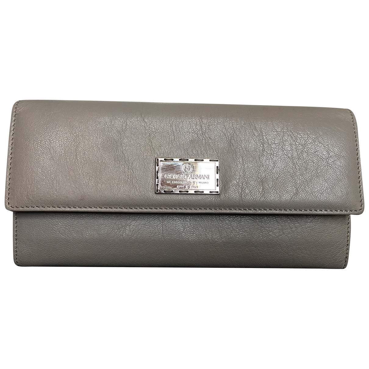 Giorgio Armani \N Grey Leather wallet for Women \N