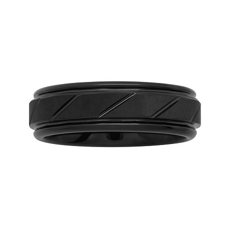Men's 7mm Comfort Fit Grooved Tungsten Wedding Band, 12 1/2 , No Color Family