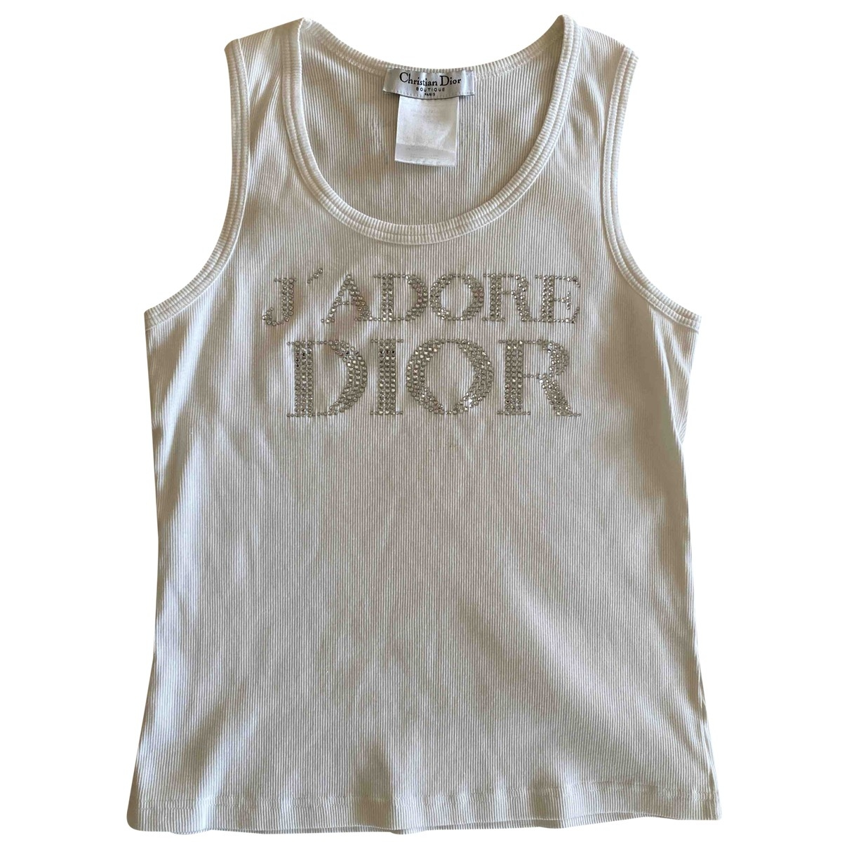 Dior \N White Cotton  top for Women 44 FR