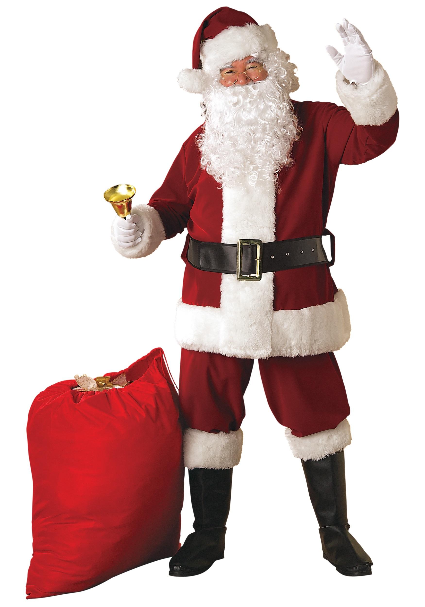Regal Santa Plus Size Suit Costume