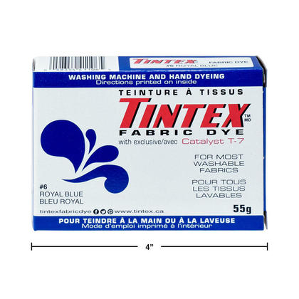 Fabric Dye Cloth Dye for Most Washable Fabrics, Royal Blue, 55g, 1Pc - Tintex