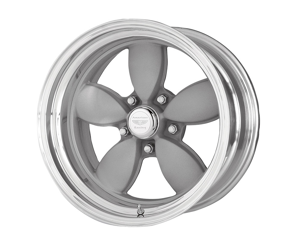 American Racing VN402 Classic 200S Wheel 17x11 Blank +0mm Two-Piece Vintage Silver Center Polished Barrel