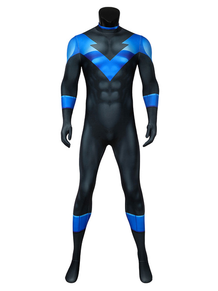 Milanoo DC Batman Under The Red Hood Dick Grayson Nightwing Cosplay Costume