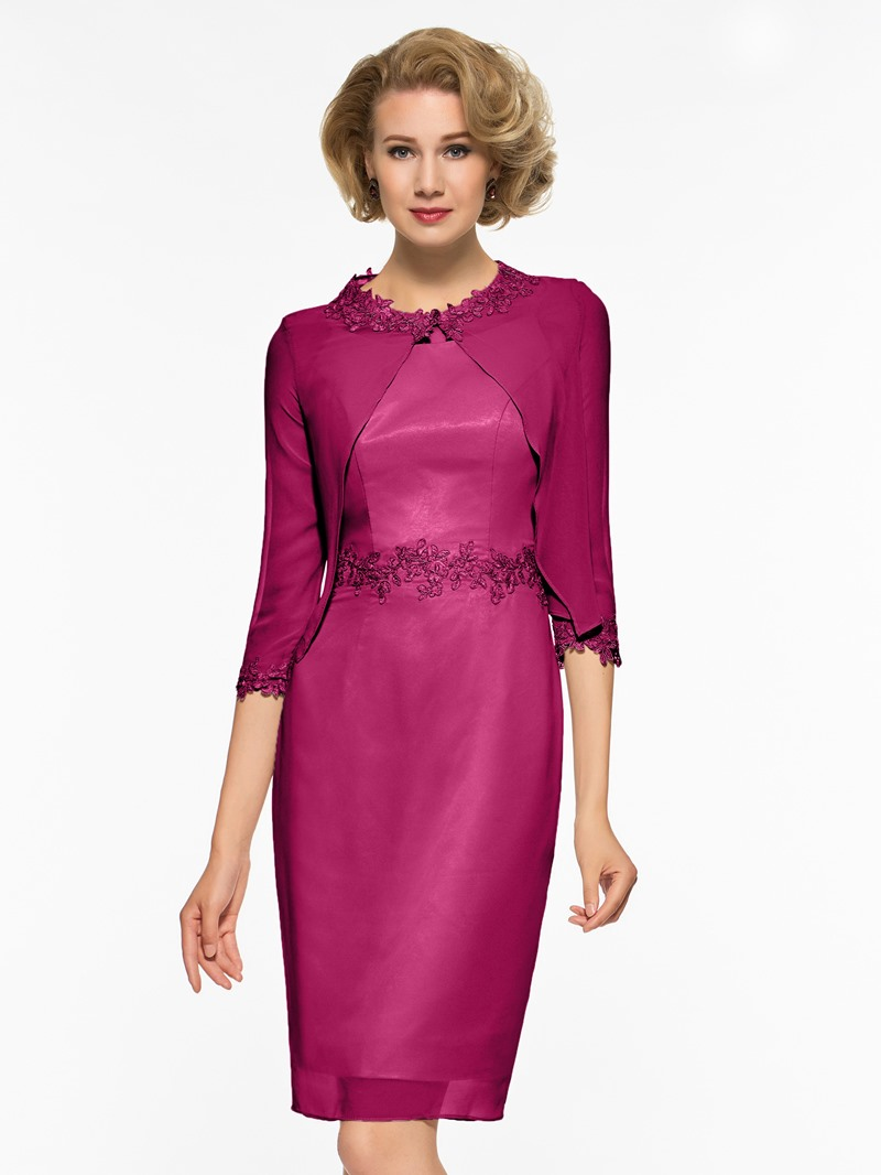 Ericdress Appliques Knee Length Mother Of The Bride Dress with Jacket