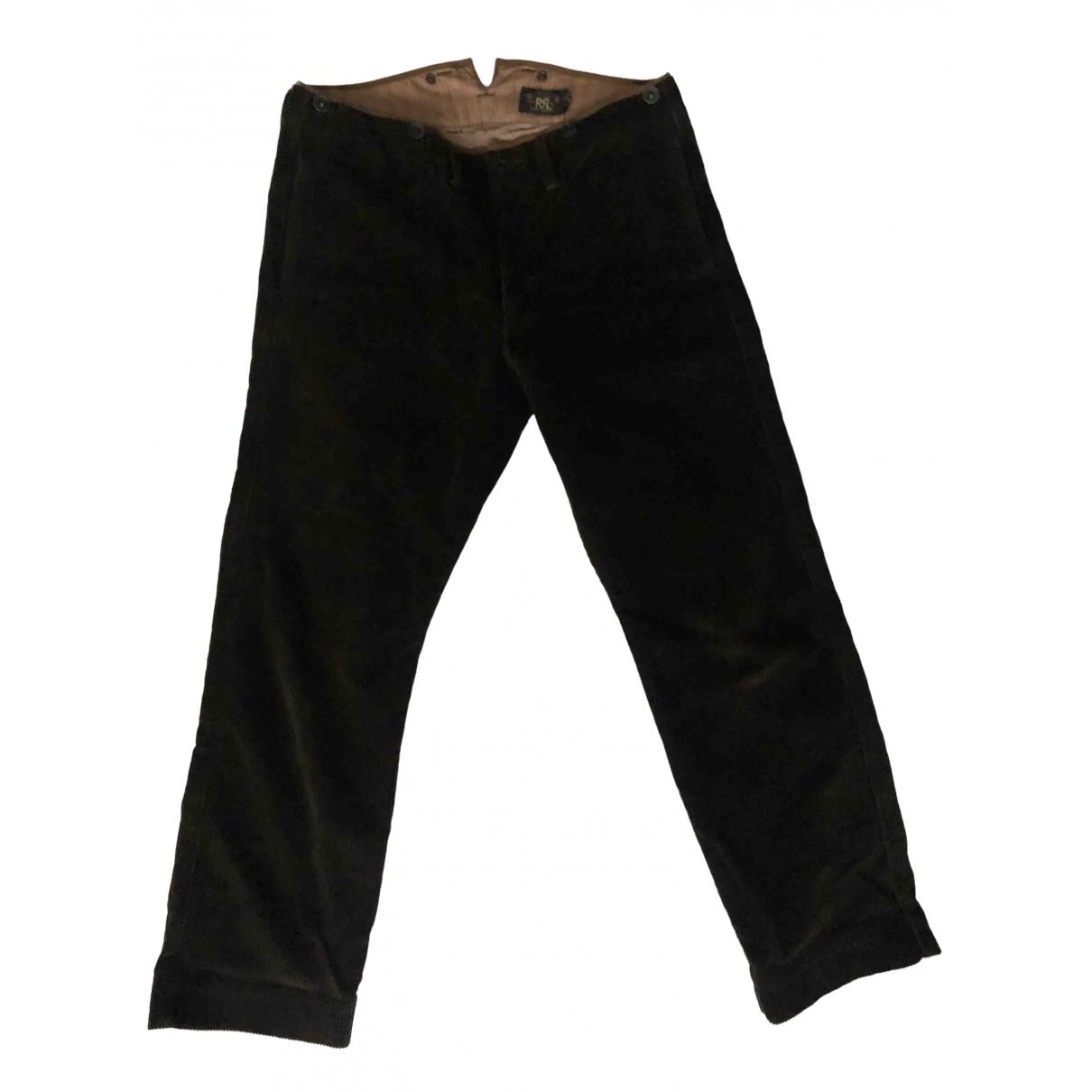 Ralph Lauren Double Rl \N Brown Cotton Trousers for Men 32 UK - US