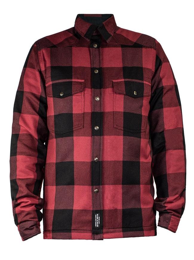 John Doe Motoshirt XTM Camiseta Motorista Rojo Negro L