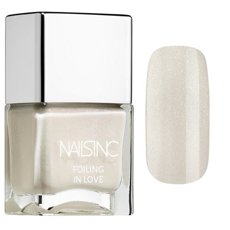 NAILS INC. Foiling In Love Nail Polish, One Size , White