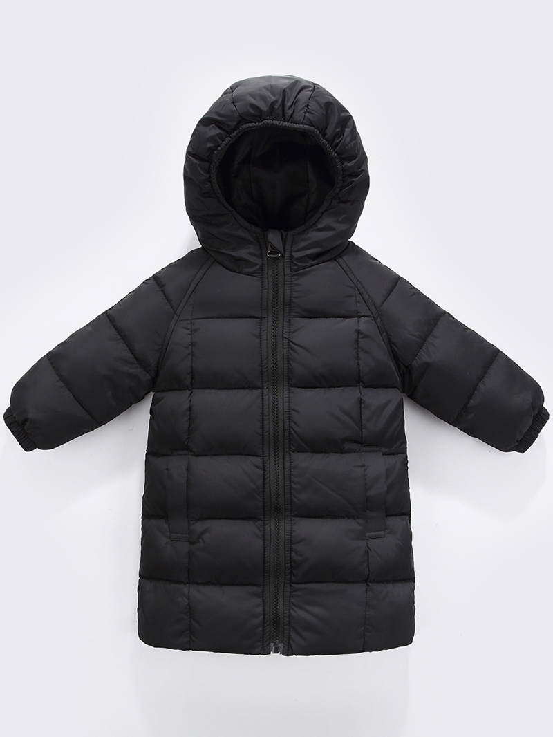 Ericdress Thick Plain Zipper Baby Girls & Boys Down Coat