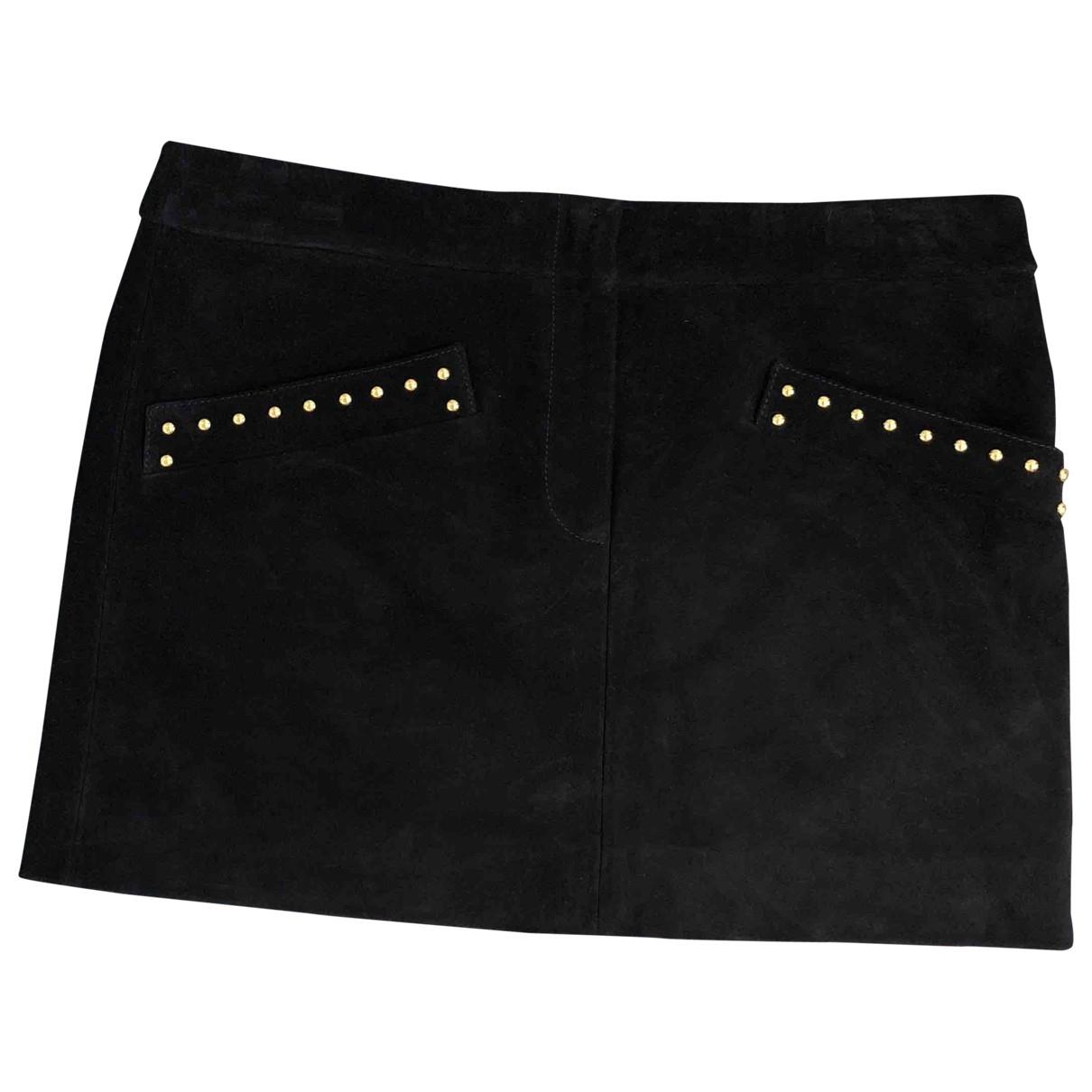 Yves Saint Laurent \N Black Suede skirt for Women 38 FR