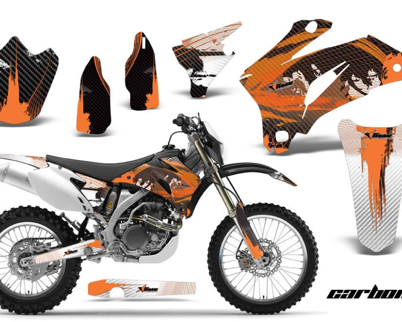 AMR Racing Dirt Bike Graphics Kit Decal Wrap For Yamaha WR250F 2007-2014 WR450F 2007-2011áCARBONX ORANGE