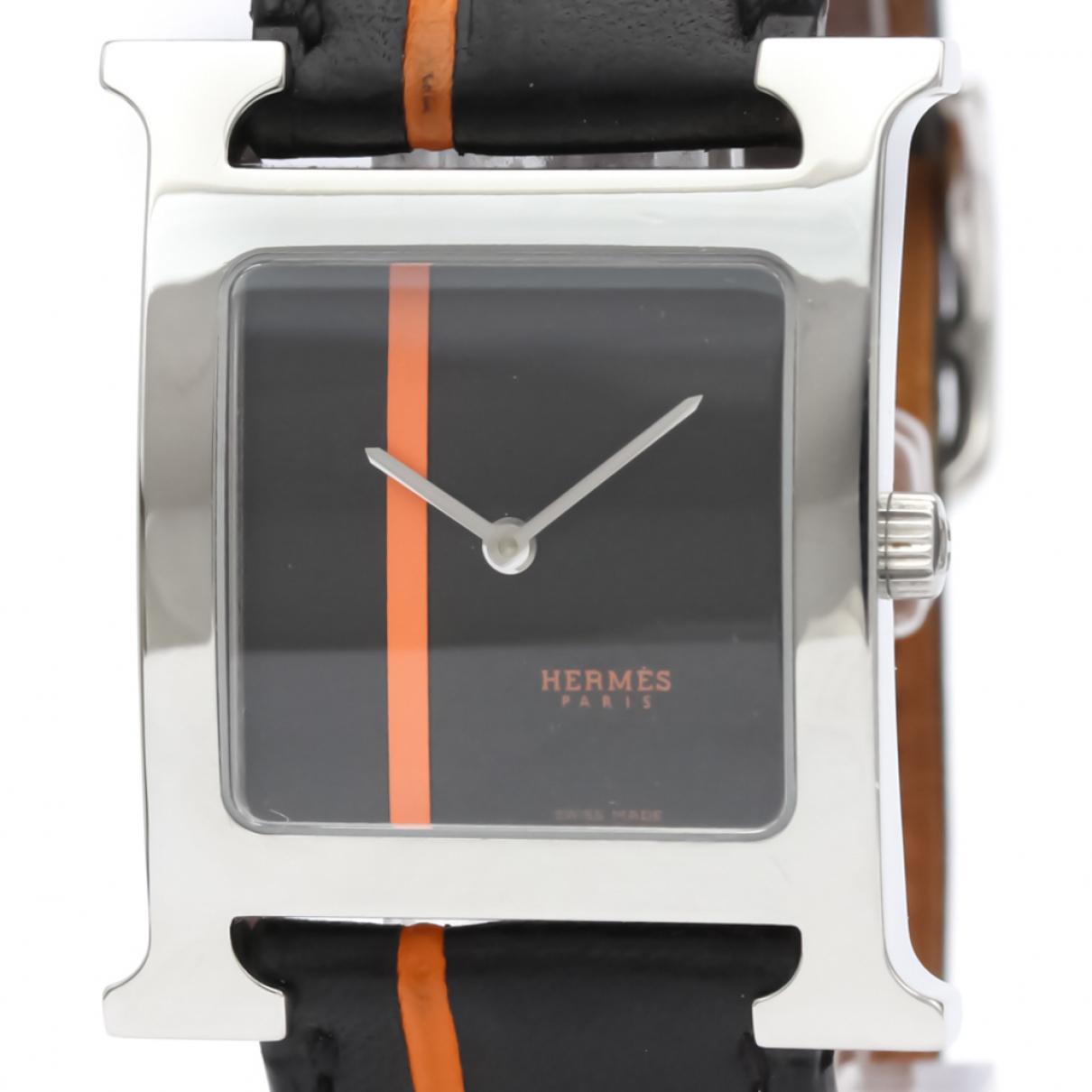 Hermès Heure H Black Steel watch for Men \N