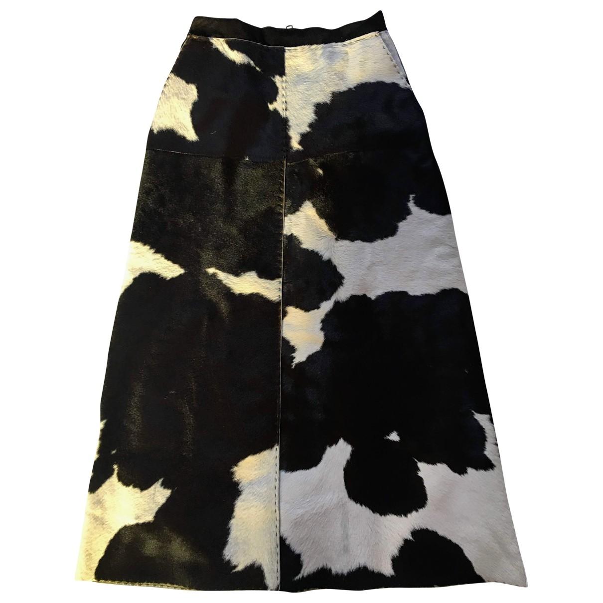 D&g \N Brown Leather skirt for Women S International