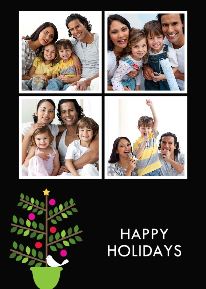 Holiday Photo Cards 5x7 Folded Cards, Premium Cardstock 120lb, Card & Stationery -Partridge in a Pear Tree