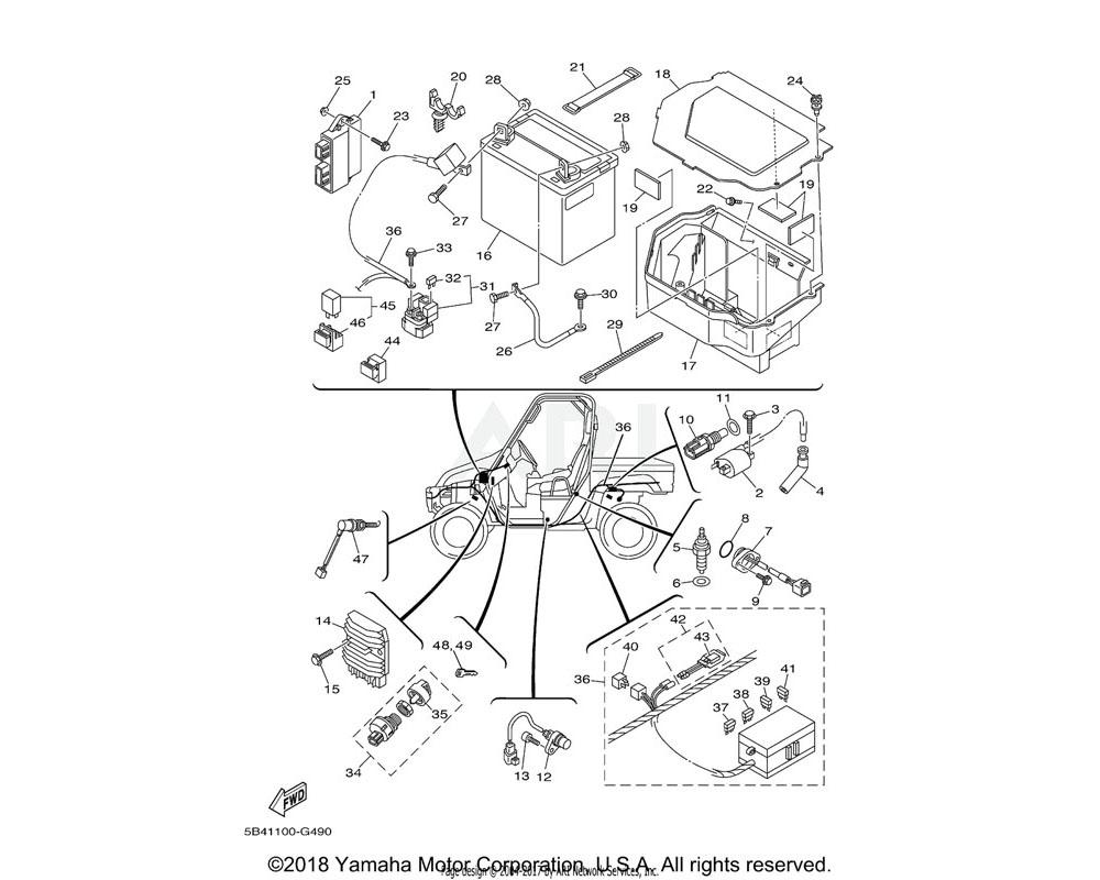 Yamaha OEM 5B4-8591A-01-00 ENGINE CONTROL UNIT ASSY