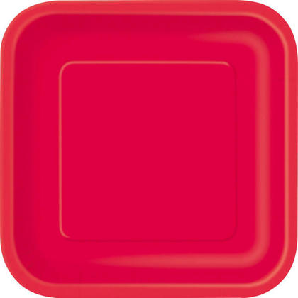 Party Paper Square Dinner Plate 9