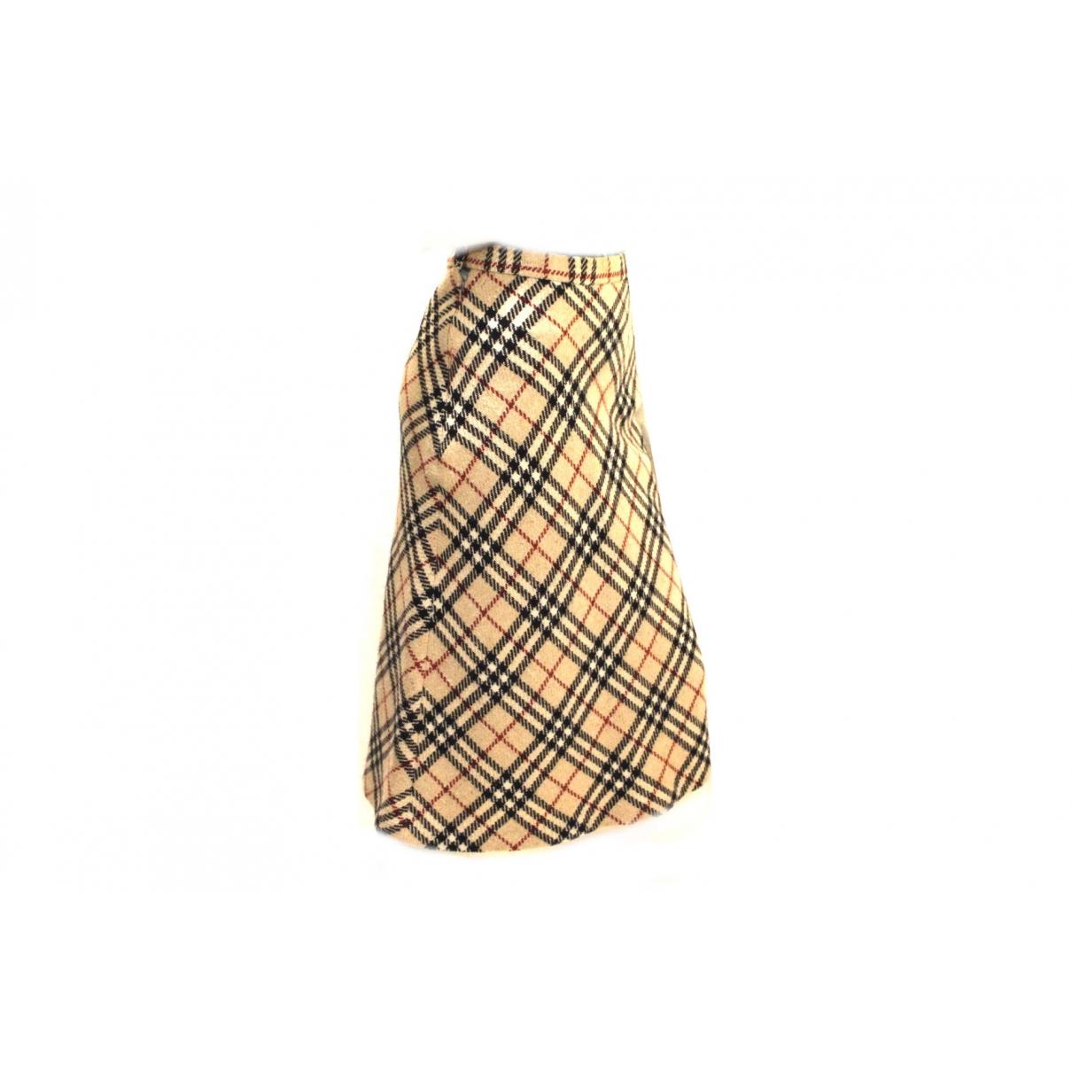 Burberry \N Beige Wool skirt for Women 40 IT