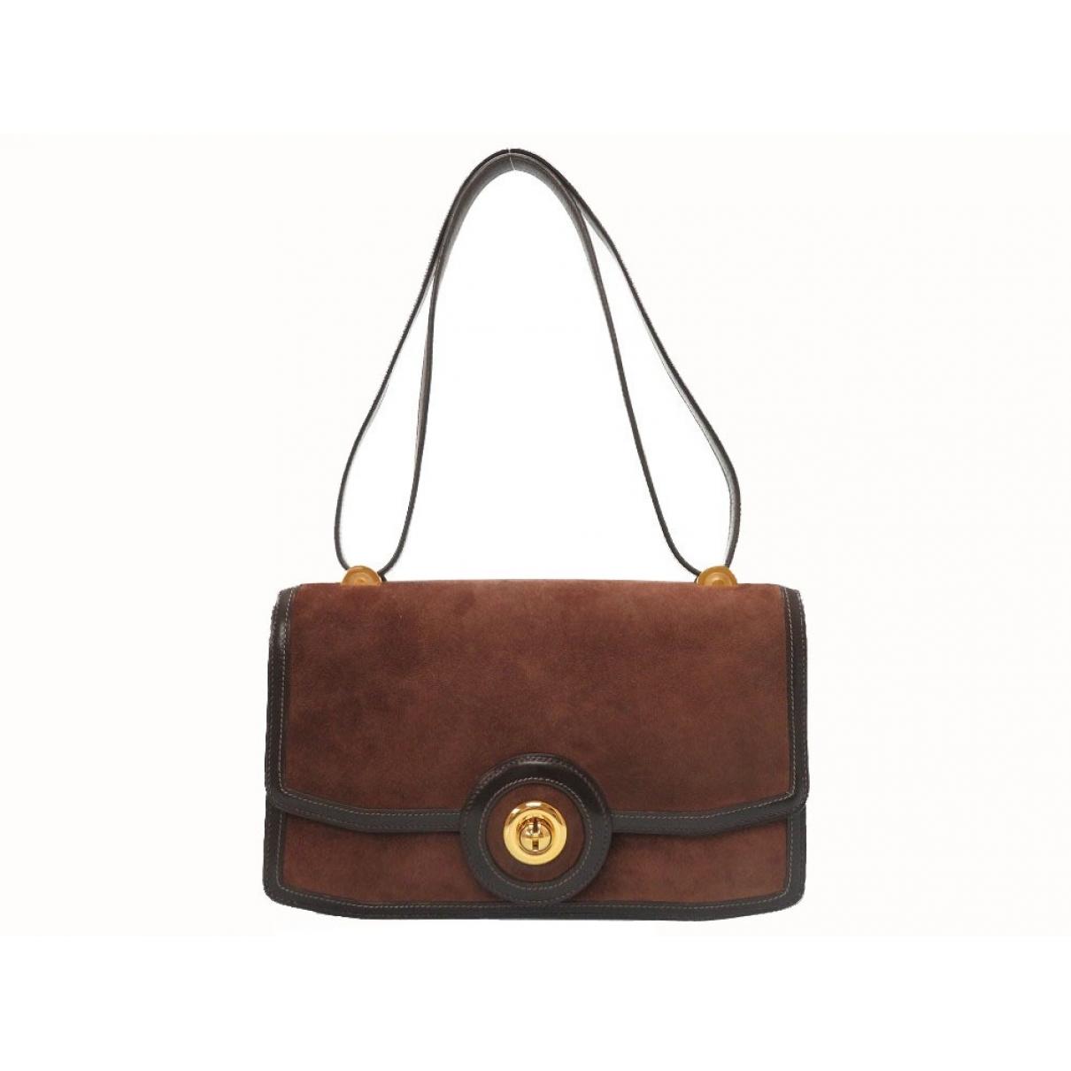 Herm??s \N Brown Suede handbag for Women \N